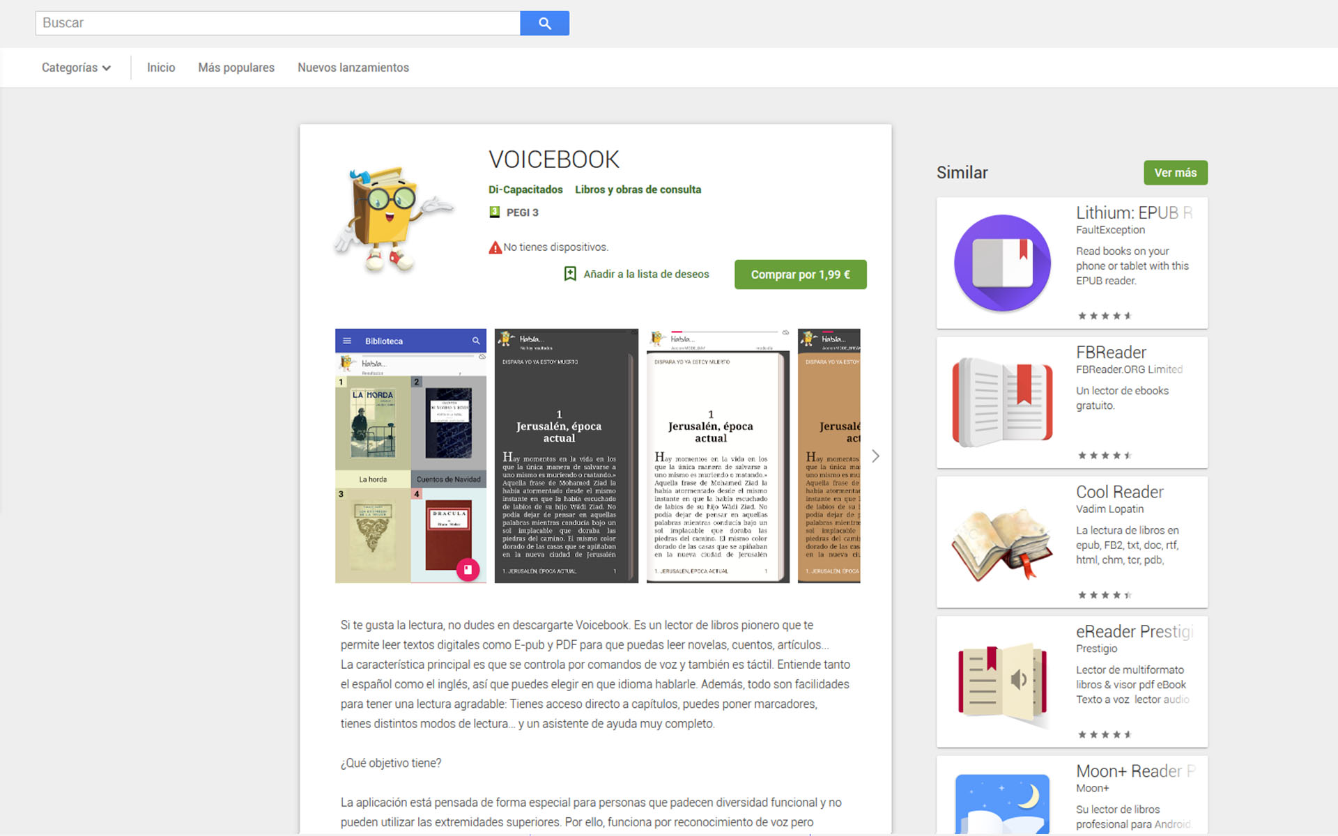 APP Android Voicebook